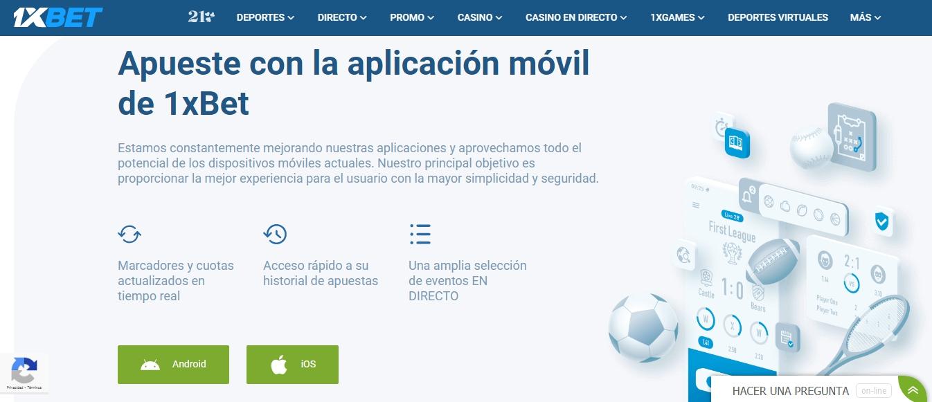 1xBet aplicación México